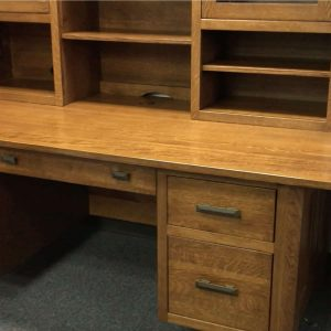 Arts & Crafts Executive Desk with Topper