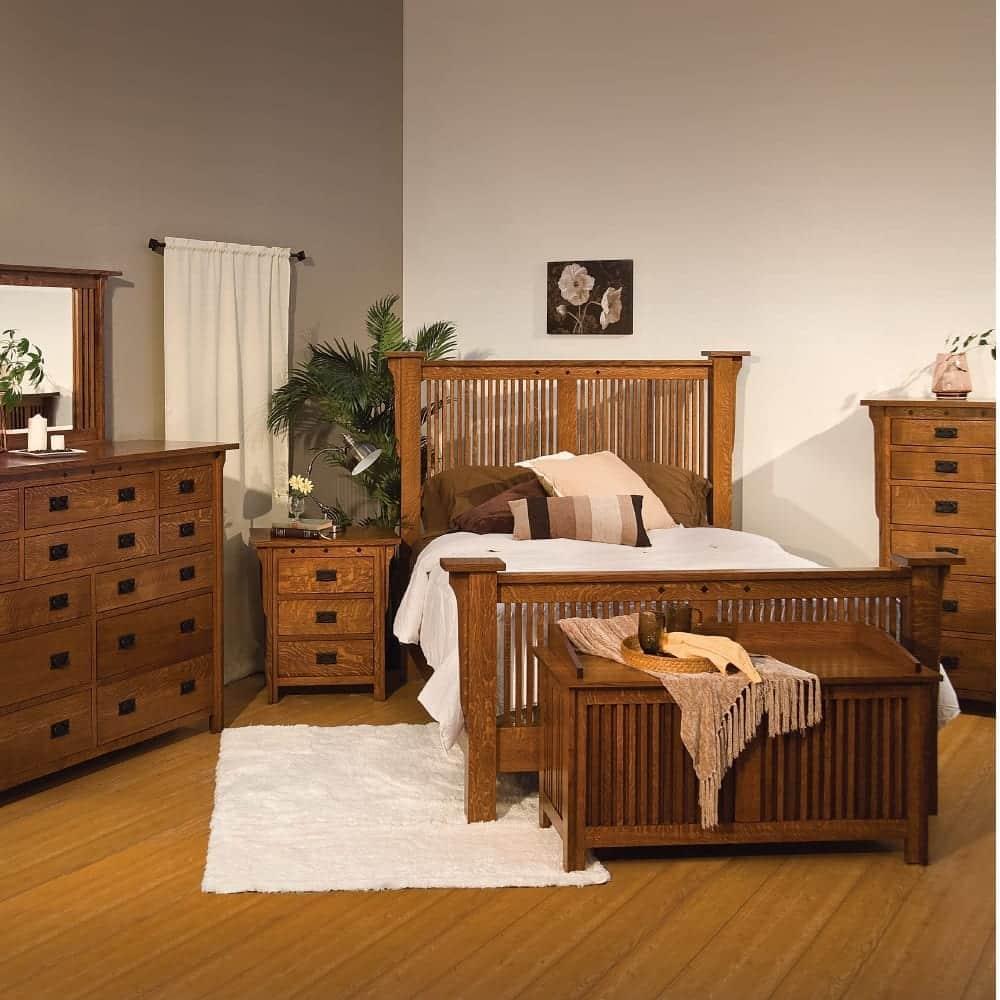 Mission Craftsman bedroom