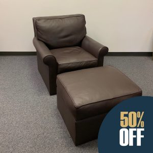 Leather Chair & Ottoman 4