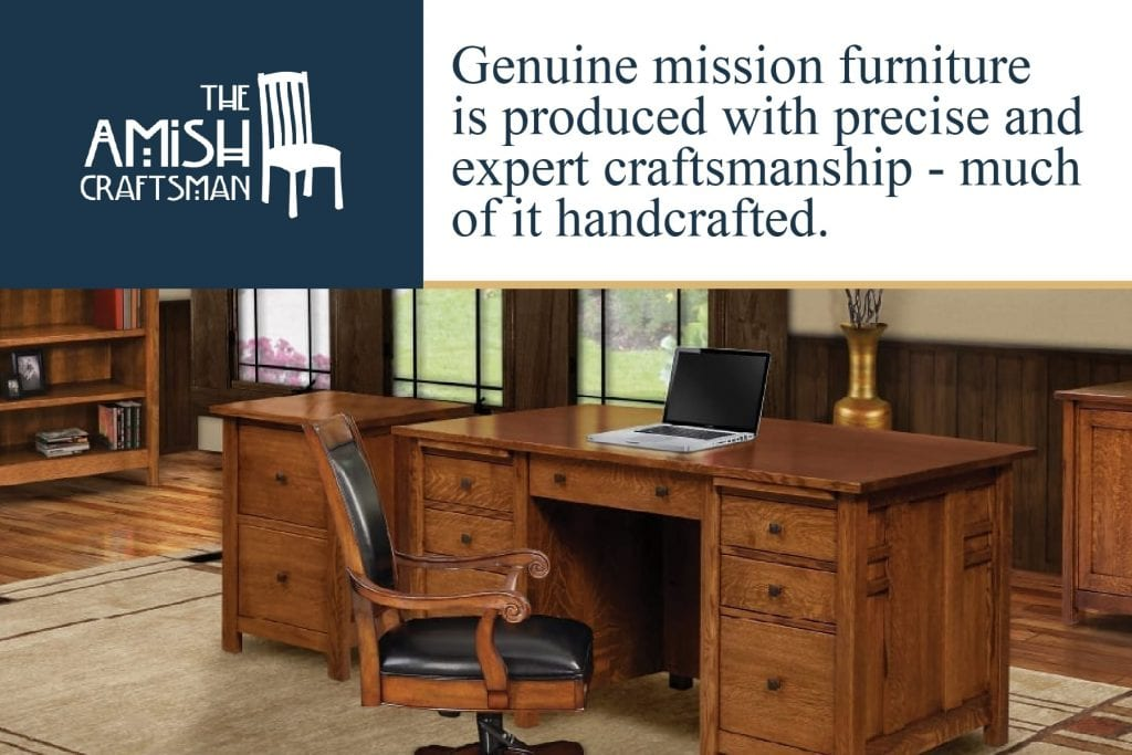 genuine mission furniture is produced with precise craftsmanship