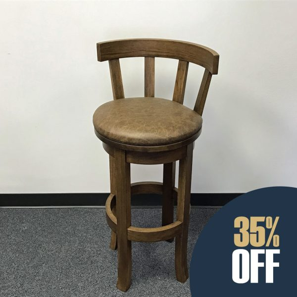 Barstool with Leather Seat
