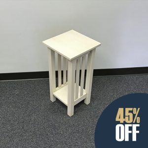 Mission Plant Stand - White