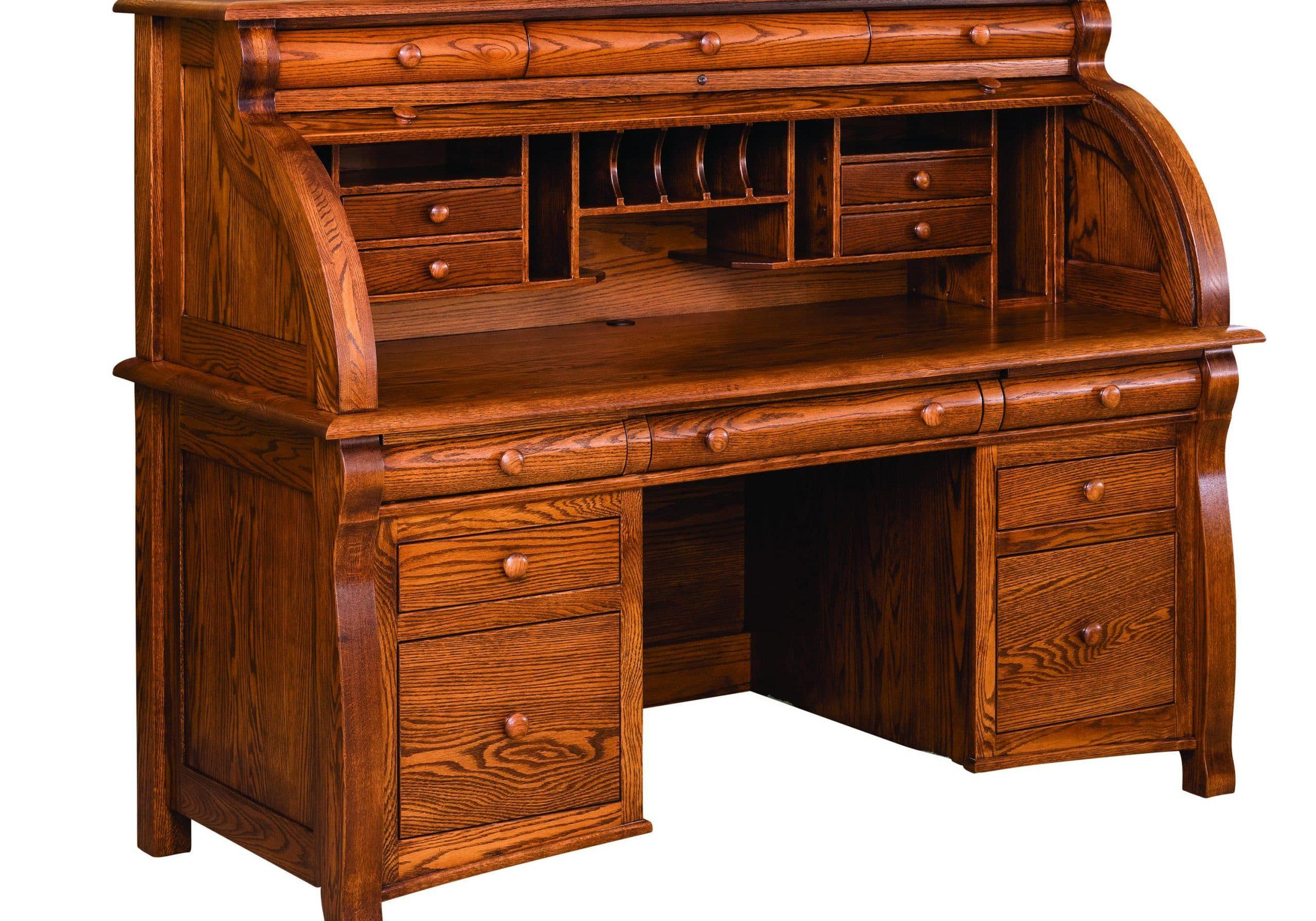 Castlebury Roll Top Desk